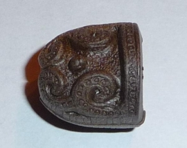 Kunststof eindkap donkerbruin (15 x 15 mm)