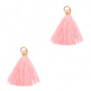 Kwastjes Ibiza style 1.5cm Gold-bright pink