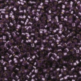 Miyuki Delica 11/0 DB-0695 Silverlined Violet Half Matted Dyed