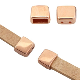 Eindkapjes DQ metaal (Ø5mm) met 2 rijggaten Rosé goud (nikkelvrij)
