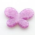 Kunststof kraal vlinder fuchsia 40 x 35 mm