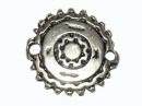 Tussenzetsel antiek zilver 20 mm