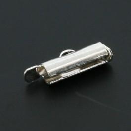 2x eindkap voor weefarmbanden 12 mm zilverkleur (designerskwaliteit)