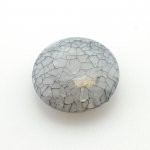 Kunststof kraal rond plat 28 mm