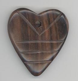 Houten hart 45 x 55 mm