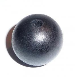 Houten bol zwart (25 mm)