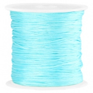 Macramé satijndraad 0.8mm Aquamarine blue