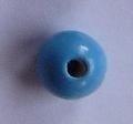 Houten kraal turqoise 12 mm