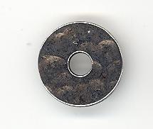 Metalen schijfje 15 x 2 mm zilverkleur