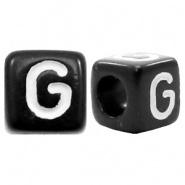 Letterkraal G (acryl) 6 x 6 mm (rijggat 3,6 mm), per stuk