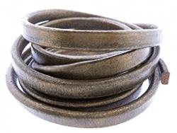 Leer ovaal brons metallic 5 x 10 mm,  per cm