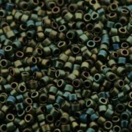 Miyuki Delica 11/0 DB-0324 Metallic Green Iris Matted ca. 2½ gram