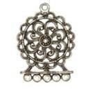 Ornament antiek zilver 50 x 37 mm