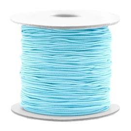Gekleurd elastisch draad 0,8 mm Light Turqoise Blue