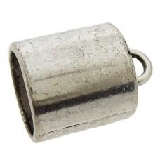 Eindkap 16 x 22 mm zilverkleur, per stuk