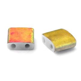 Miyuki Tila 5 x 5 mm Kralen - 4557 Vitrail matte crystal TL