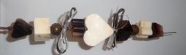 Bad- en douche zeepkettingpakket bruin / wit