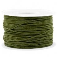 Waxkoord Armygreen 1,0 mm