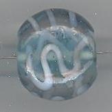 Fantasiekraal turquoise plat ovaal