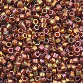 Miyuki Delica 11/0 DB-0126 Cinnamon Rainbow Gold Luster ca. 2½ gram
