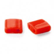 Miyuki Tila 5 x 5 mm Kralen - 408 Opaque red