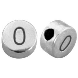 DQ metalen cijferkralen # 0 Antiek zilver (nikkelvrij)