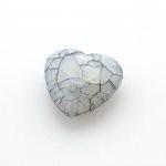 Kunststof facet kraal hart grijs 25 x 23 mm