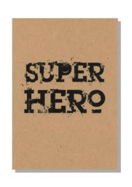 kaart  + envelop + postzegel 'SUPER HERO'