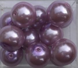 Glasparel lila 10 mm, per stuk