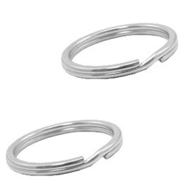 Roestvrij stalen (RVS) Stainless steel onderdelen sleutelhanger ring 25mm Zilver