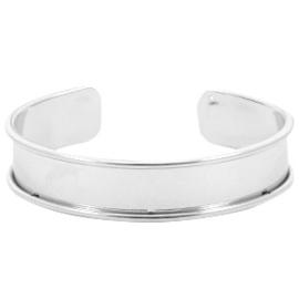 DQ Metaal basis armband 10mm platinum(nikkelvrij)