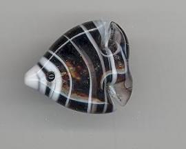 Murano kraal vis 22 x 18 mm