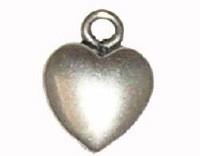 Hartje antiek zilver 13 mm