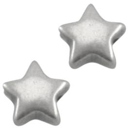 DQ Metaal kraal ster 6 mm Antiek zilver (nikkelvrij)