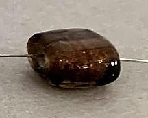 Folie kraal 10 mm donker bruin