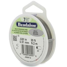 Beadalon Rijgdraad 7 draads 0.51mm Bright Stainless Steel