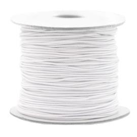 Gekleurd elastisch draad 0,8 mm White