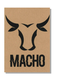 kaart  + envelop + postzegel 'MACHO'