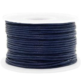 Waxkoord Donkerblauw 1,0 mm