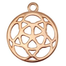 DQ metalen bedel 21mm Rosé goud (nikkelvrij)