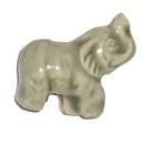 Keramiekkraal olifant licht grijs 21 x 15 mm