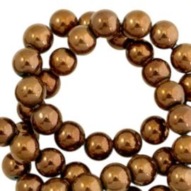 Hematite kralen rond 6mm Rosegold