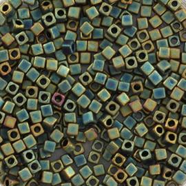 Miyuki cubes 1.8mm - metallic matte iris patina 2008