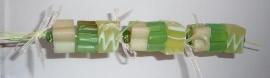 Bad- en douche zeepkettingpakket groen / lime