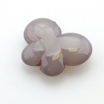 Kunststof kraal vlinder grijs 35 x 27 mm