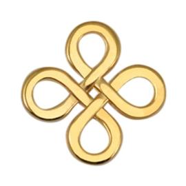 Bedels DQ metaal tussenstuk Infinity vierkant Goud (nikkelvrij)