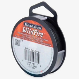 Beadalon Wildfire zwart 0,20 mm / 18,3 meter