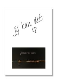 kaart  + envelop + postzegel 'JIJ KAN DIT'
