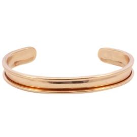 DQ Metaal basis armband roségoud 5mm (nikkelvrij)