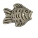 Keramiekkraal vis donkergrijs 19 x 15 mm